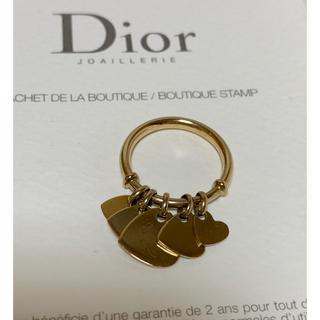 クリスチャンディオール(Christian Dior)のDIOR ハートモチーフリング 18K イエローゴールド 12号(リング(指輪))