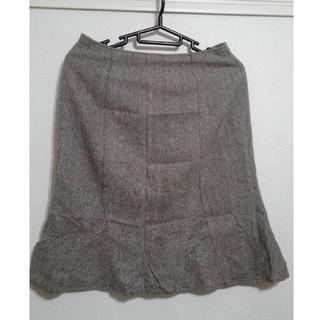 ハニーズ(HONEYS)の【honeys】ツィード素材のマーメイドラインひざ丈スカート(ひざ丈スカート)