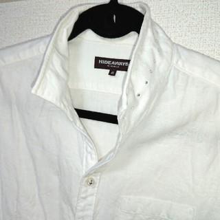 ハイダウェイ(HIDEAWAY)のHIDEAWAYSイタリアンカラーワイヤー入七分袖花柄シャツ オリジナルスワロフ(シャツ)
