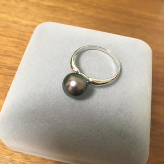 13号★美麗黒蝶真珠★タヒチパール★真珠の指輪★南洋真珠(リング(指輪))