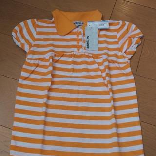 シマムラ(しまむら)のしまむら トップス140 オレンジ 新品未使用タグ付き(Tシャツ/カットソー)