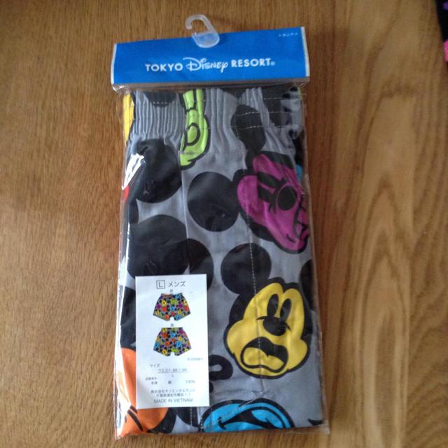 Disney(ディズニー)のミッキー トランクス L メンズのアンダーウェア(トランクス)の商品写真
