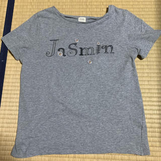 ティアンエクート(TIENS ecoute)の値下げしました!ティアンエクート 花刺繍 半袖 Tシャツ グレー(Tシャツ(半袖/袖なし))