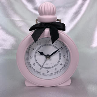 フランフラン(Francfranc)の【新品】パヒューム型アラーム時計(ピンク)(置時計)