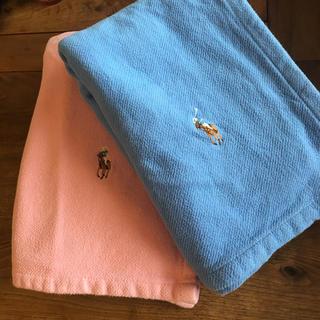 ラルフローレン(Ralph Lauren)の2枚セット♡ラルフローレン ハーフ綿毛布 ひざかけにも(毛布)