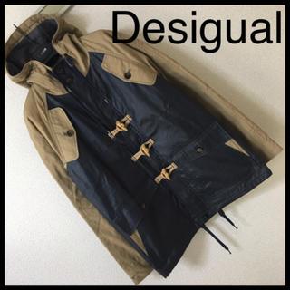 デシグアル(DESIGUAL)の◆美品◆デジグアル◆マウンテン パーカー ジャケット コーティング 切替刺繍 S(マウンテンパーカー)