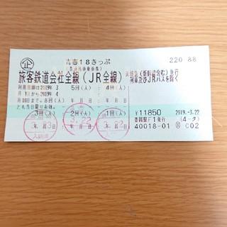 ジェイアール(JR)の青春18きっぷ(鉄道乗車券)
