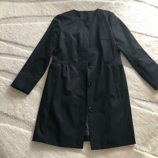 しまむら - 新品タグ付☆ノーカラーコート ブラック