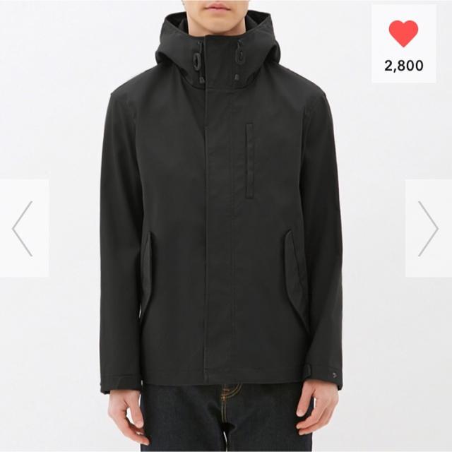 GU(ジーユー)のGU マウンテンパーカー 黒 メンズ Mサイズ メンズのジャケット/アウター(マウンテンパーカー)の商品写真
