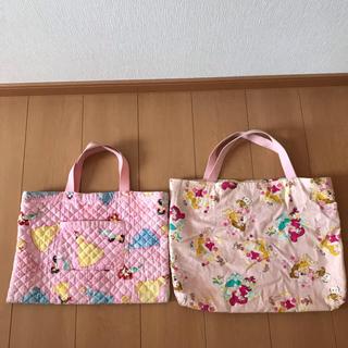 ディズニー(Disney)の値下げ応相談!!手提げ袋 プリンセス柄 大小2個セット(バッグ/レッスンバッグ)