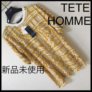 テットオム(TETE HOMME)の◆新品未使用◆TETE HOMME テットオム◆ネイティブ リンガーTシャツ M(Tシャツ/カットソー(半袖/袖なし))