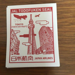 ジャル(ニホンコウクウ)(JAL(日本航空))の都道府県シール  東京(航空機)