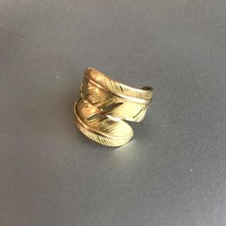 ゴローズ(goro's)のゴローズ タブルフェザー 金(リング(指輪))