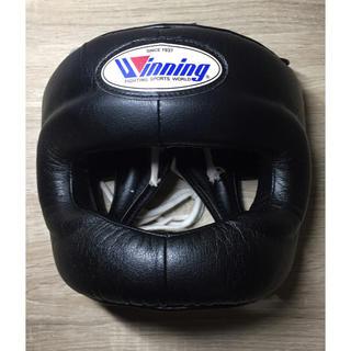 ウイニング Winning ヘッドギア フルフェイスタイプ ブラック Lサイズ(ボクシング)