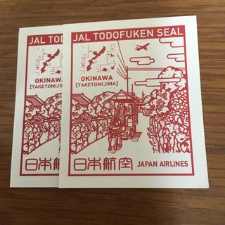 ジャル(ニホンコウクウ)(JAL(日本航空))のJALシール  沖縄  一枚(航空機)