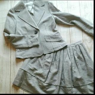 ノーブル(Noble)の【最終お値下げ!】ノーブル 春ツイードスカートスーツセットアップ M美品36(スーツ)