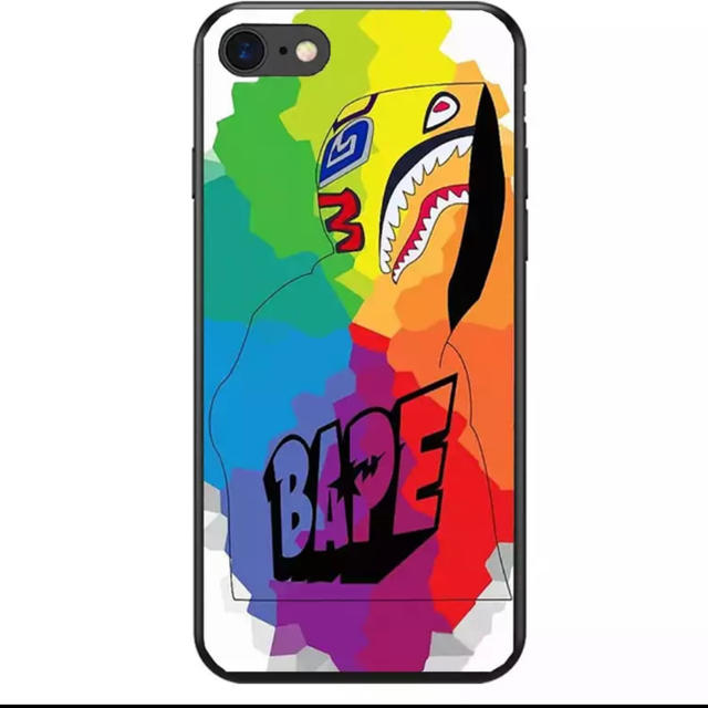 iphone7 プラスチック | 大人気★ BAPE iPhoneケース ブランド サメ シリコンの通販 by リツshop 海外|ラクマ