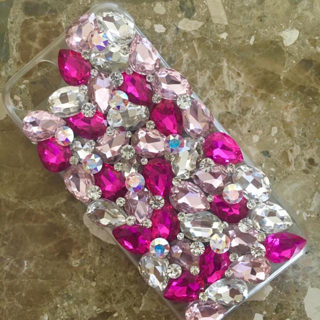LV iPhone 11 ProMax ケース 人気 | キラキラガラスビジュースワロフスキーアイフォンケースカバーの通販 by デコショップ  雅|ラクマ