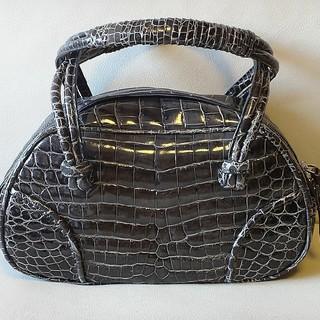 ボッテガヴェネタ(Bottega Veneta)の極美品 世界数点 幻 ボッテガ ヴェネタ クロコ ミニボストンバッグ 保存袋付(ショルダーバッグ)