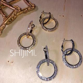 ザラ(ZARA)の【Bridal†jewelry】2way 上質 ビジュー ラインストーンピアス(ピアス)