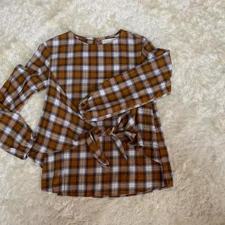 ザラ(ZARA)のザラガールチェックシャツ152(Tシャツ/カットソー)