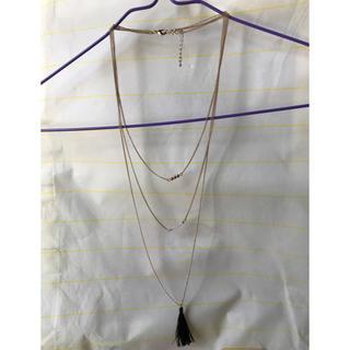 ジーユー(GU)のレディース三連ネックレス(ネックレス)