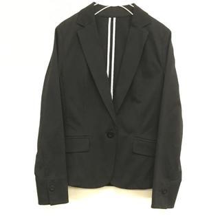 スタイルコム(Style com)の美品 style com レディース テーラード ジャケット 黒 ブラック S(パーカー)