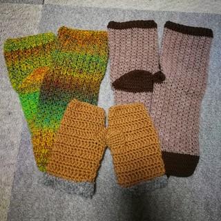 超お買い得✩手編みの靴下&ハンドウォーマー(手袋)