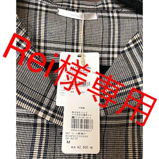 レトロガール(RETRO GIRL)のRETORO GIRL新品グレンチェックシャツ(シャツ/ブラウス(長袖/七分))