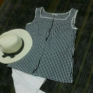 ドゥファミリー(DO!FAMILY)の濃紺ギンガムチェック(Tシャツ(半袖/袖なし))