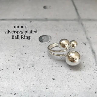 ꫛꫀꪝ✧・:* 【入荷】silver925 plated シルバーボールリング (リング(指輪))