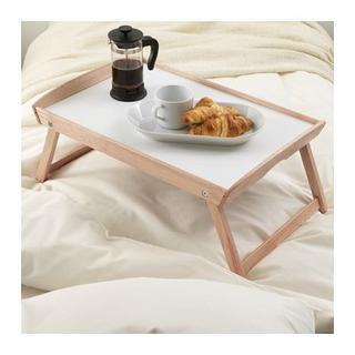 イケア(IKEA)の限定【新品・送料込】IKEA DJURA ジューラ ベッドトレイ, ゴムノキ(折たたみテーブル)
