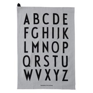 アクタス(ACTUS)のデザインレターズ グレー ティータオル(タオル/バス用品)