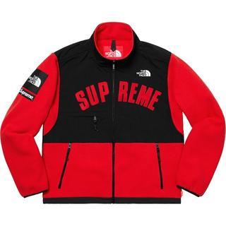 シュプリーム(Supreme)のArc Logo Denali Fleece Jacket  赤 S(マウンテンパーカー)