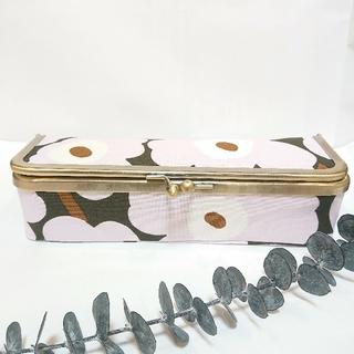 マリメッコ(marimekko)の♪ハンドメイド♪ マリメッコ ボックス型 がま口 ペンケース(その他)