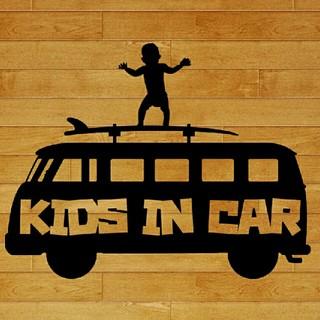ワーゲン子供が乗ってます カッティングステッカー KIDSINCAR バス(外出用品)