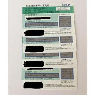 エーエヌエー(ゼンニッポンクウユ)(ANA(全日本空輸))のANA  優待券4枚(航空券)