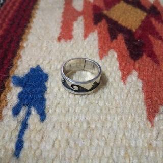 インディアン(Indian)のインディアンジュエリー ホピ族 オーバーレイ シルバーリング 指輪 925(リング(指輪))