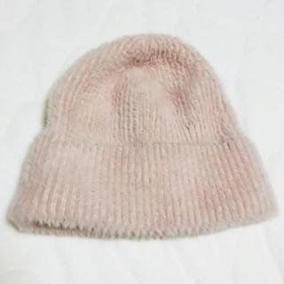 エイチアンドエム(H&M)のモヘア リブニットキャップ  ニット帽(ニット帽/ビーニー)