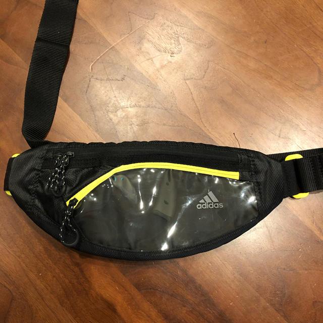 adidas(アディダス)のadidas ランニング ウェストバッグ ポーチ 黄 メンズのバッグ(ウエストポーチ)の商品写真