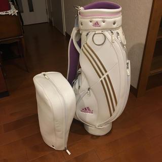 アディダス(adidas)の精悍華麗なレディースゴルフキャディバッグ!adidas White(バッグ)