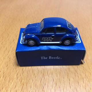 フォルクスワーゲン(Volkswagen)のビートル ミニカー 青(ミニカー)