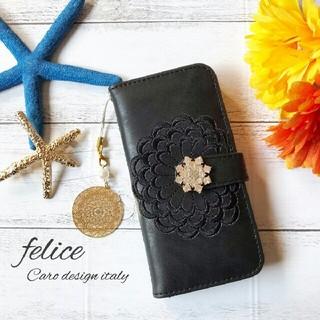 【新作】iphone6/6s/7/8 plus 手帳型iphoneケース 刺繍(iPhoneケース)