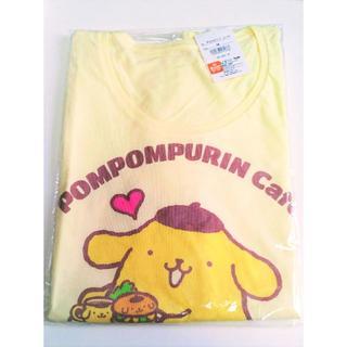 ポムポムプリン(ポムポムプリン)のポムポムプリンカフェ 限定 Tシャツ レディース Mサイズ イエロー サンリオ(Tシャツ(半袖/袖なし))