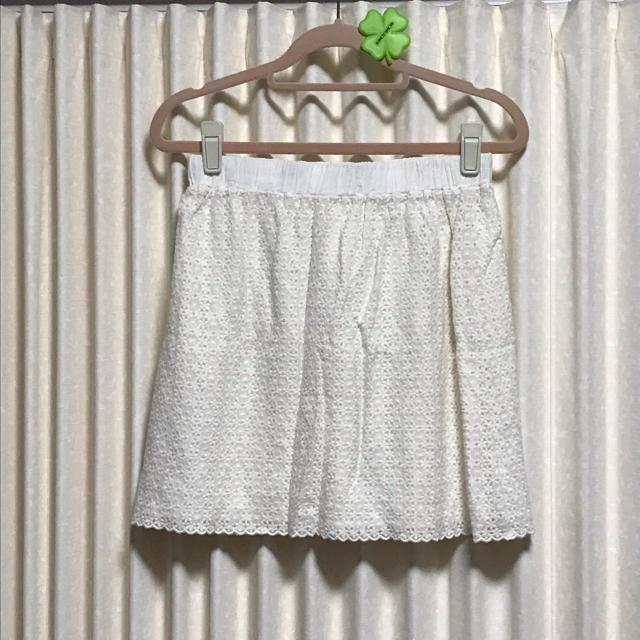 pour la frime(プーラフリーム)のレーススカート*ホワイト レディースのスカート(ミニスカート)の商品写真