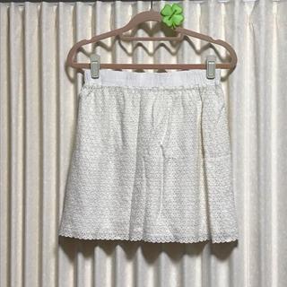 プーラフリーム(pour la frime)のレーススカート*ホワイト(ミニスカート)