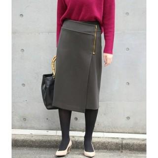 ノーブル(Noble)のNOBLE  T/W ダブルクロスラップスカート(ひざ丈スカート)