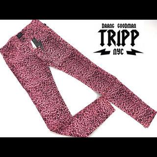 トリップニューヨークシティ(Tripp NYC)の定価11880円 新品 TRIPP NYC/レオパード柄プリント ストレッチ (スキニーパンツ)