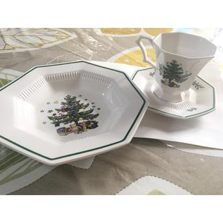 ニッコー(NIKKO)の未使用品 NIKKO クリスマス 深皿とカップ&ソーサ(食器)