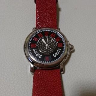 ジェラルドジェンタ(Gerald Genta)の定価160万 美品 ブラックダイヤ(腕時計(デジタル))